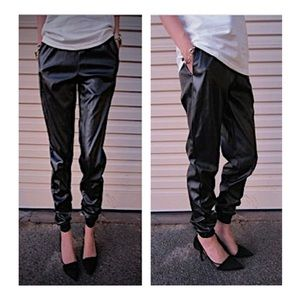 Hot & Delicious Faux Leather Joggers